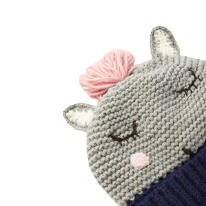 Joules Junior Chummy Hat Grey Horse