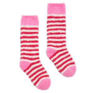 Joules Junior Fab Fluffy Socks Cream Stripe