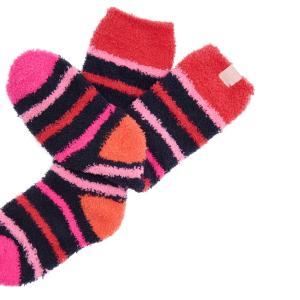 Joules Junior Fab Fluffy Socks French Navy Stripe