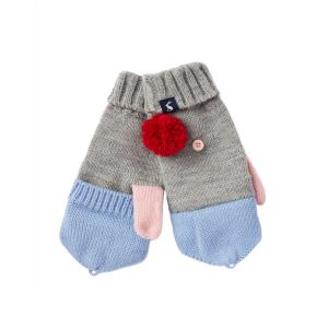Joules Junior Halley Gloves Grey Marl