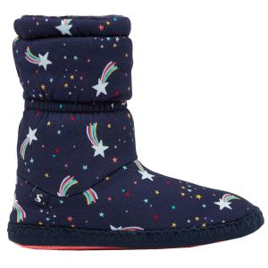 Joules Junior Padabout Slippers Navy Shooting Star