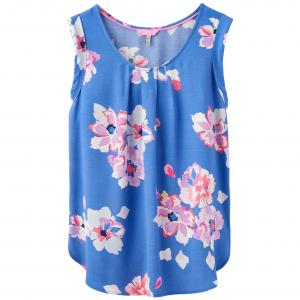 Joules Ladies Alyse Sleeveless Woven Top Blue Floral