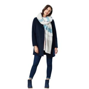 Joules Ladies Berkley Scarf Light Blue Check