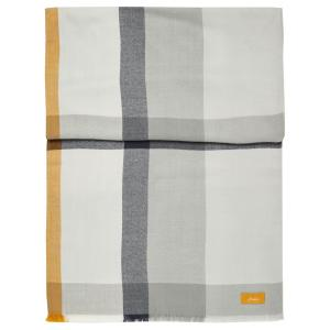 Joules Ladies Bridey Checked Scarf Cream/Grey/Yellow Check