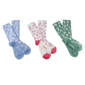 Joules Ladies Brilliant Bamboo 3 Pack Socks Ditsy Floral