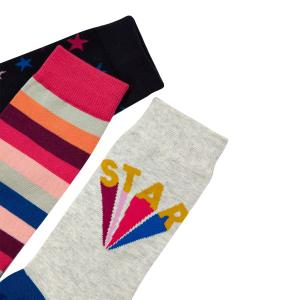 Joules Ladies Brilliant Bamboo Socks 3 Pack Navy Stars