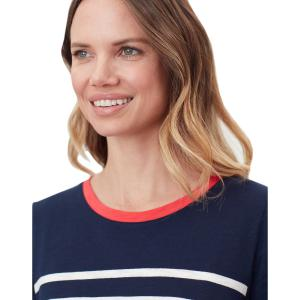Joules Ladies Carley Classic T-Shirt French Navy Cream Stripe
