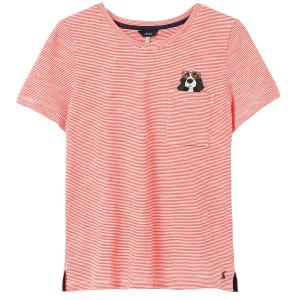 Joules Ladies Carley Print T-Shirt Spaniel Pocket