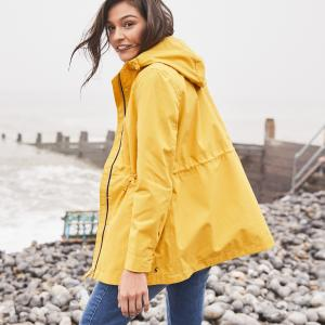 Joules Ladies Coast Waterproof Jacket Antique Gold