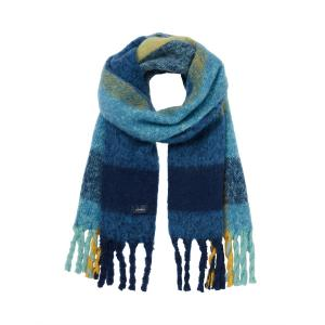 Joules Ladies Edgeworth Scarf Blue Large Check