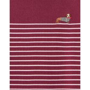 Joules Ladies Harbour Long Sleeve Top Purple Potion Stripe