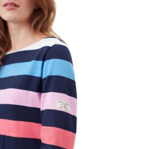 Joules Ladies Harbour Long Sleeve Jersey Top Navy Stripe