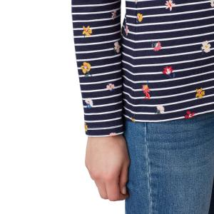 Joules Ladies Harbour Print Top Navy Stripe Floral