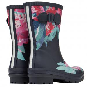 Joules Ladies Molly Mid Height Wellies Navy Floral