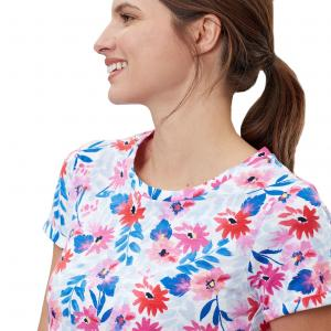 Joules Ladies Nessa Printed Jersey T-Shirt White Multi Floral