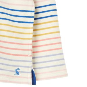 Joules Ladies Pip Sweatshirt Cream Multi Stripe