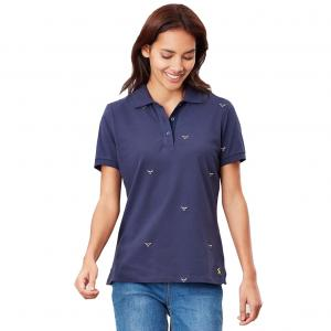 Joules Ladies Pippa Polo Shirt Navy Bees
