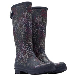 Joules Ladies Printed Wellies Navy Rain