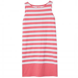 Joules Ladies Riva Sleeveless Jersey Dress Pink White Stripe