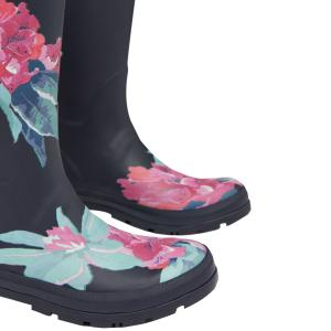 Joules Ladies Welly Print Wellies Navy Floral