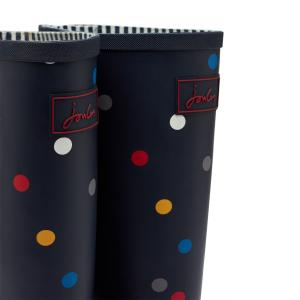 Joules Ladies Welly Print Wellies Navy Multi Spot