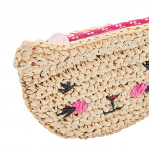 Joules Lucky Straw Character Bag Brown Cat
