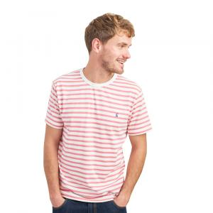 Joules Mens Boathouse T-Shirt Cream Pink Stripe