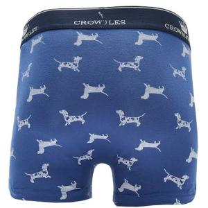 Joules Mens Crown Joules Underwear Blue Sausage Dog