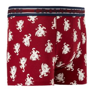 Joules Mens Crown Joules Underwear Red Dragon
