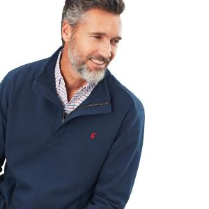 Joules Mens Deckside Half Zip Sweatshirt Navy
