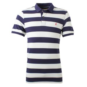 Joules Mens Filbert Classic Polo Shirt Navy Cream Stripe