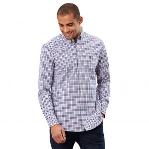 Joules Mens Hewney Classic Shirt Blue Red Check