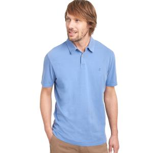 Joules Mens Laundered Polo Shirt Powder Blue