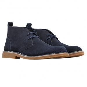 Joules Mens Lynton Lace Up Suede Boots Navy