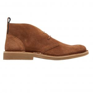 Joules Mens Lynton Lace Up Suede Boots Tan