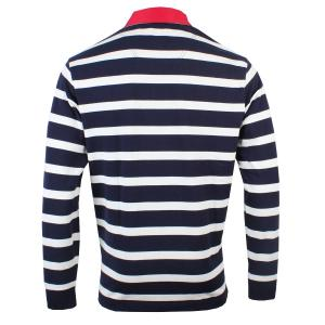Joules Mens Onside Rugby Shirt Navy Cream Stripe