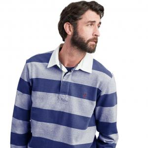 Joules Mens Onside Striped Rugby Shirt Blue Stripe