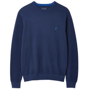 Joules Mens Redmond Mini Waffle Jarvis Jumper Buckingham Blue