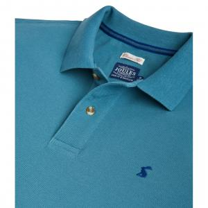 Joules Mens Woody Classic Polo Shirt Teal Grey