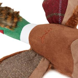 Joules Plush Pheasant Dog Toy Red Tweed