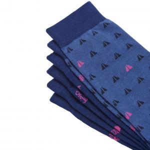 Joules Mens Striking Socks 3 Pack Blue Coastal