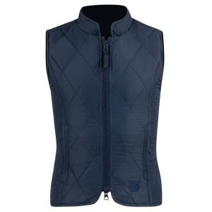 Horze Kids Classic Quilted Gilet Peacock Dark Blue