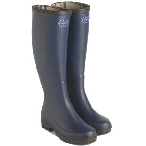 Le Chameau Ladies Giverny Jersey Lined Boots Marine