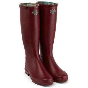 Le Chameau Ladies Iris Jersey Lined Wellington Boots Rouge