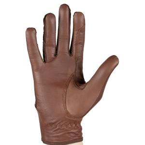 Horze Womens Leather Mesh Gloves Brown