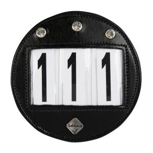 LeMieux Bridle Diamante Number Holder Black
