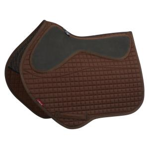 LeMieux LeGrip Close Contact Square Saddle Pad Brown