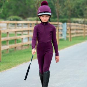 LeMieux Young Rider Pull On Breeches Grape