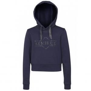 LeMieux Young Rider Cropped Hoodie Navy