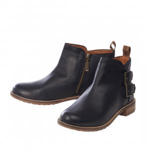 Barbour Ladies Sarah Low Buckle Boots Black